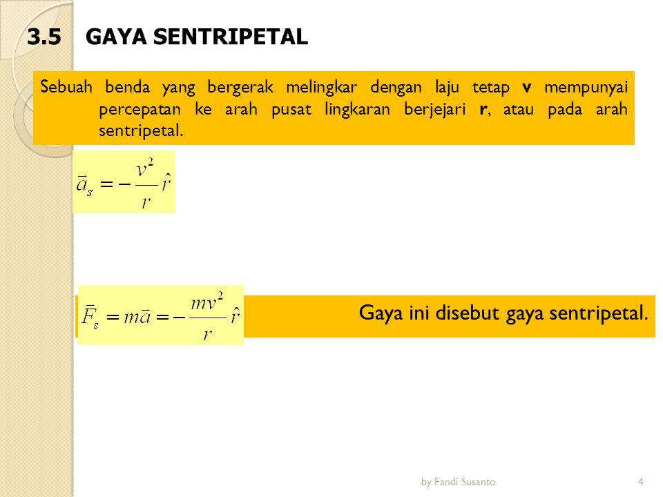 Gaya ini disebut gaya sentripetal.