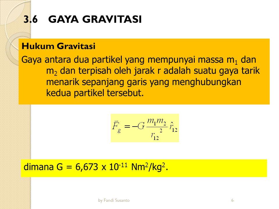 3.6 GAYA GRAVITASI Hukum Gravitasi