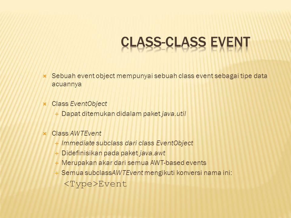 Class-class Event <Type>Event