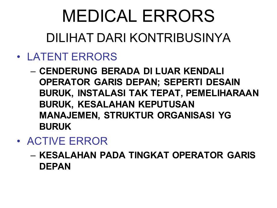 MEDICAL ERRORS DILIHAT DARI KONTRIBUSINYA