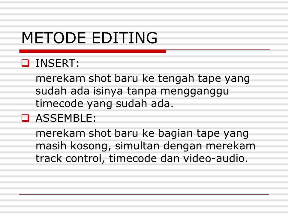 METODE EDITING INSERT: