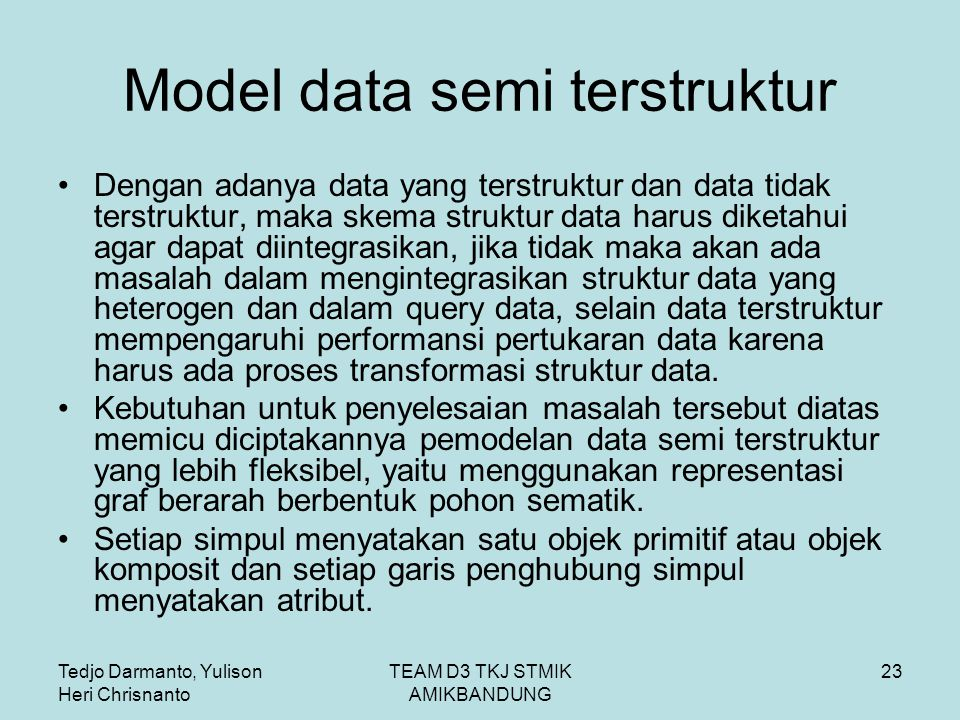 Model data semi terstruktur