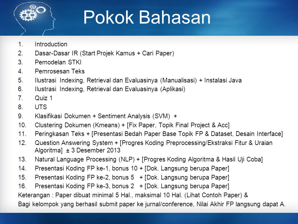 Pokok Bahasan Introduction