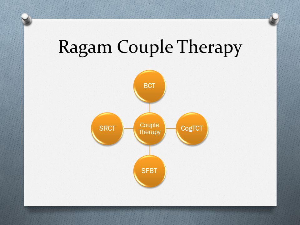Ragam Couple Therapy Couple Therapy BCT CogTCT SFBT SRCT