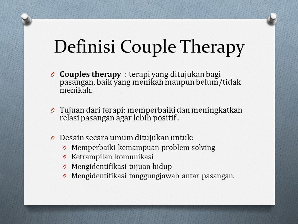 Definisi Couple Therapy