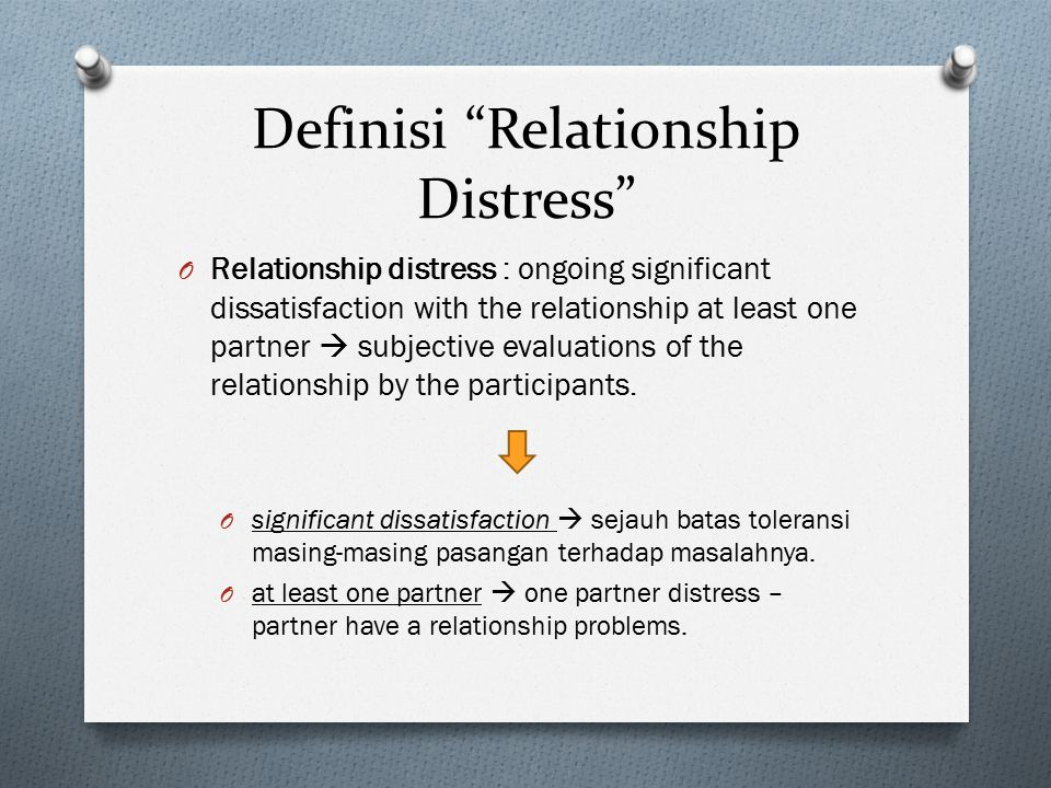 Definisi Relationship Distress