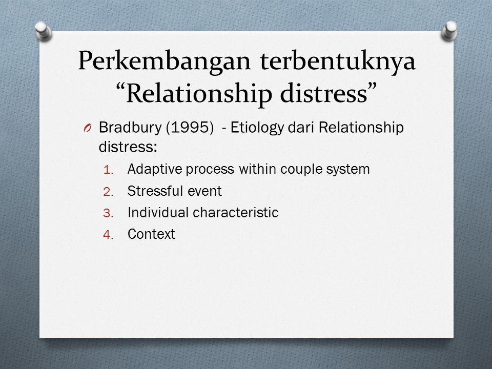 Perkembangan terbentuknya Relationship distress