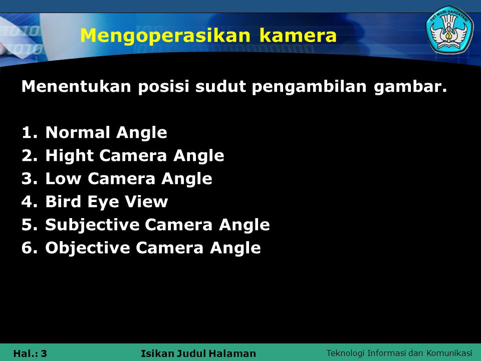 Mengoperasikan kamera