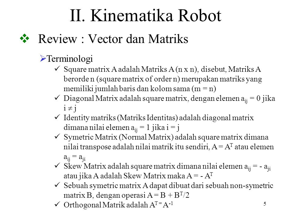 Review : Vector dan Matriks