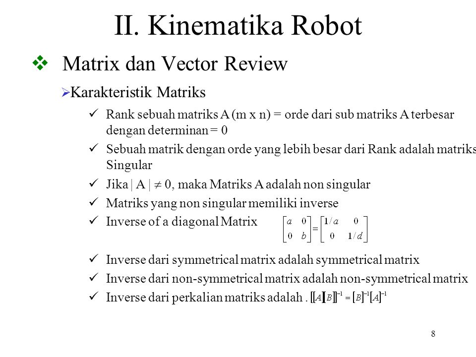 Matrix dan Vector Review