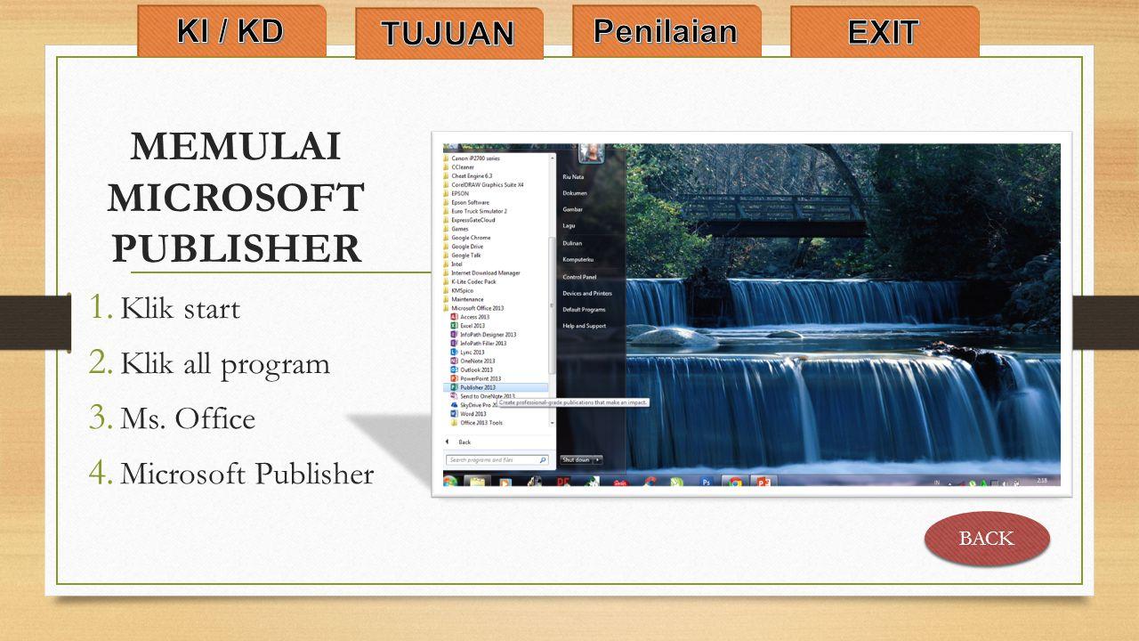 MEMULAI MICROSOFT PUBLISHER