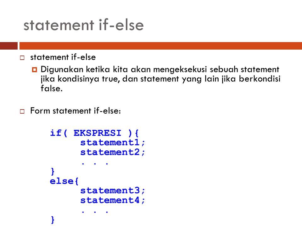 statement if-else statement if-else