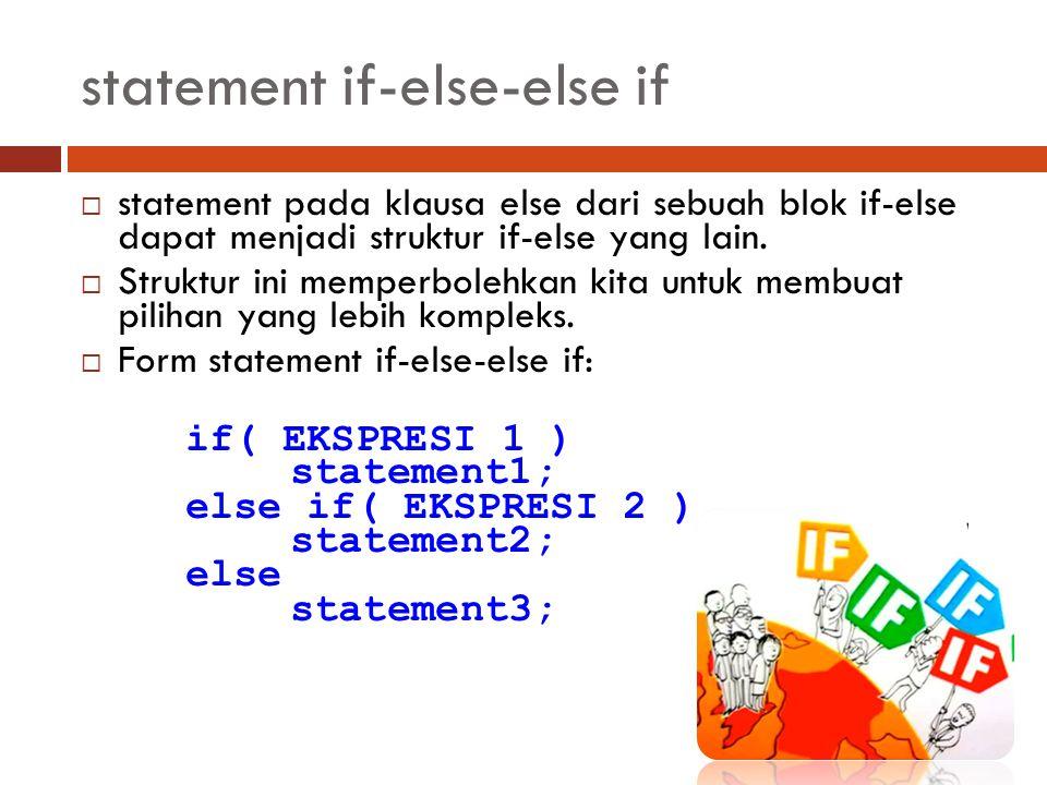 statement if-else-else if