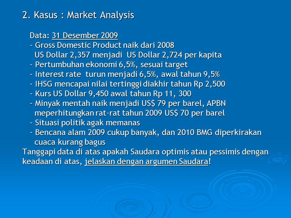 2. Kasus : Market Analysis
