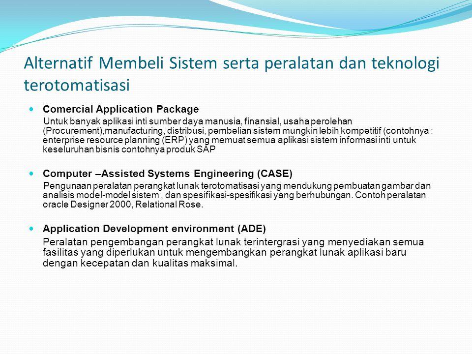 Alternatif Membeli Sistem serta peralatan dan teknologi terotomatisasi
