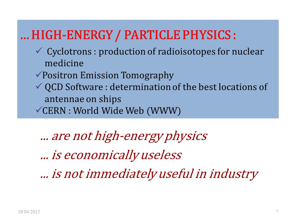 ... HIGH-ENERGY / PARTICLE PHYSICS :