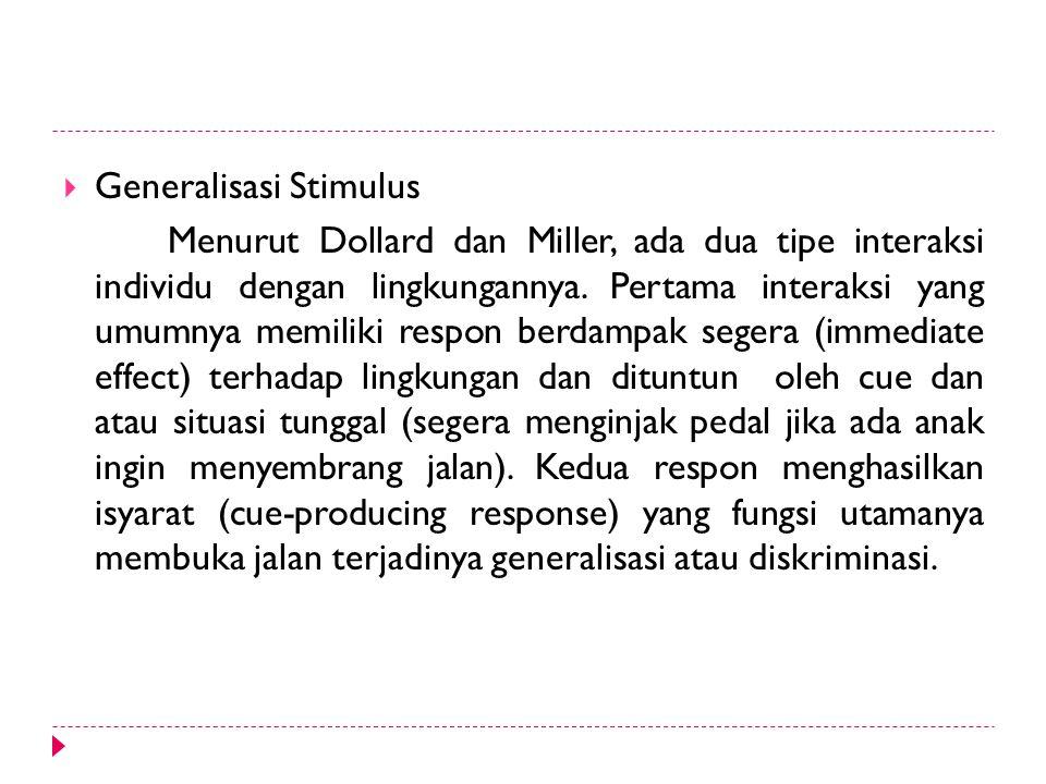 Generalisasi Stimulus