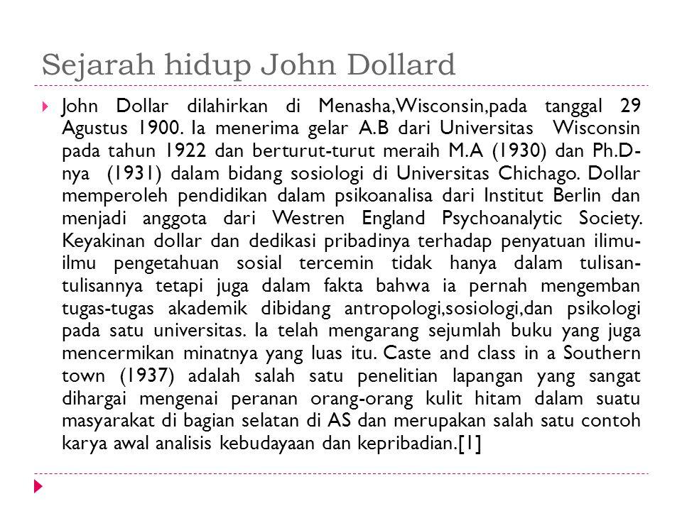 Sejarah hidup John Dollard