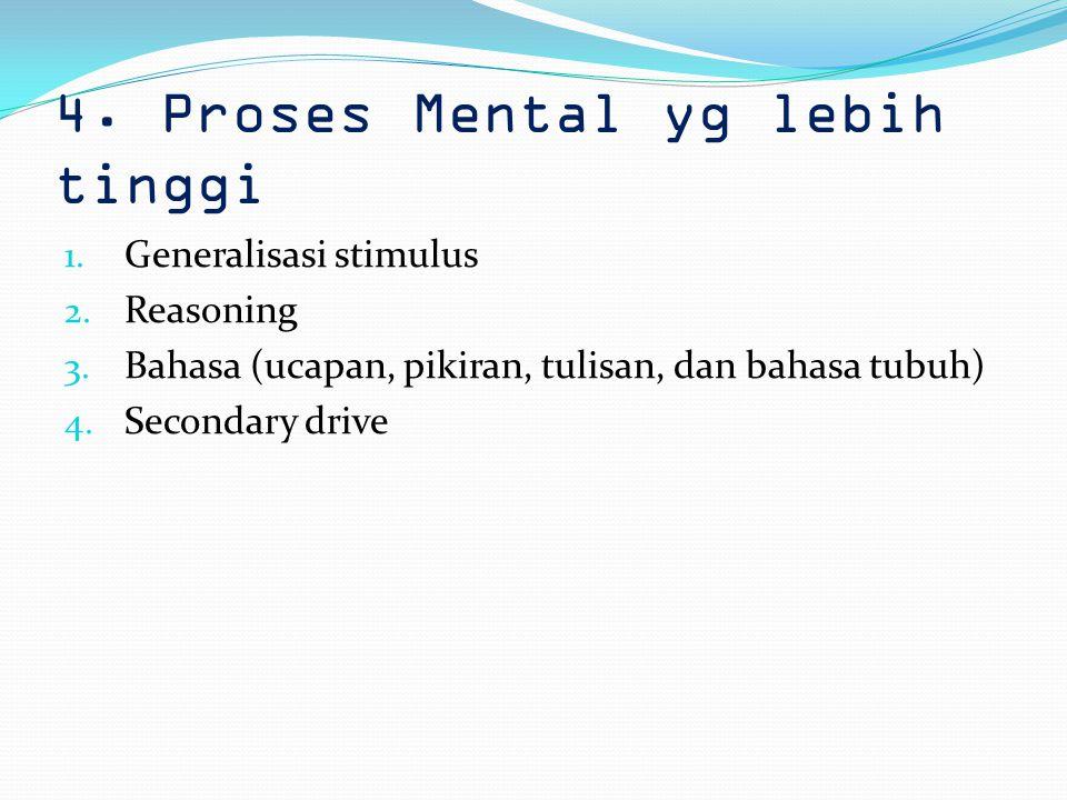 4. Proses Mental yg lebih tinggi