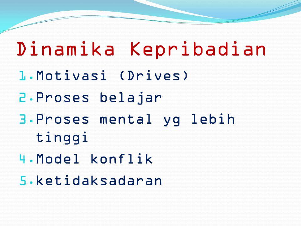 Dinamika Kepribadian Motivasi (Drives) Proses belajar