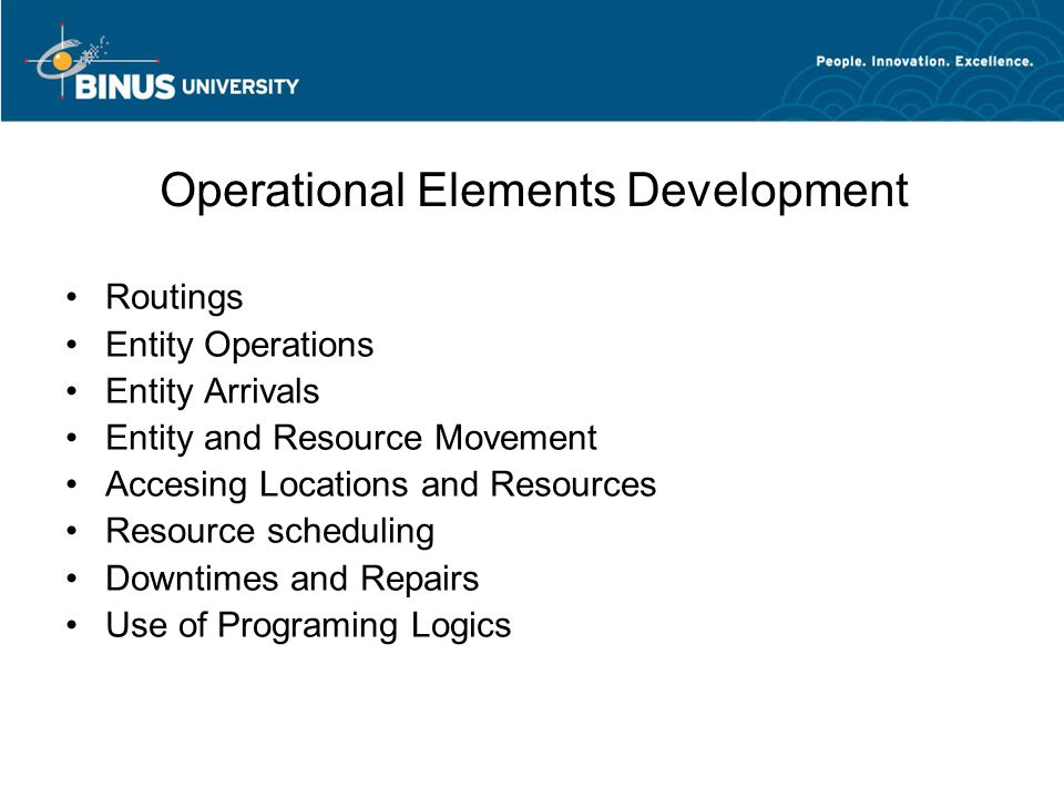 Operational Elements Development