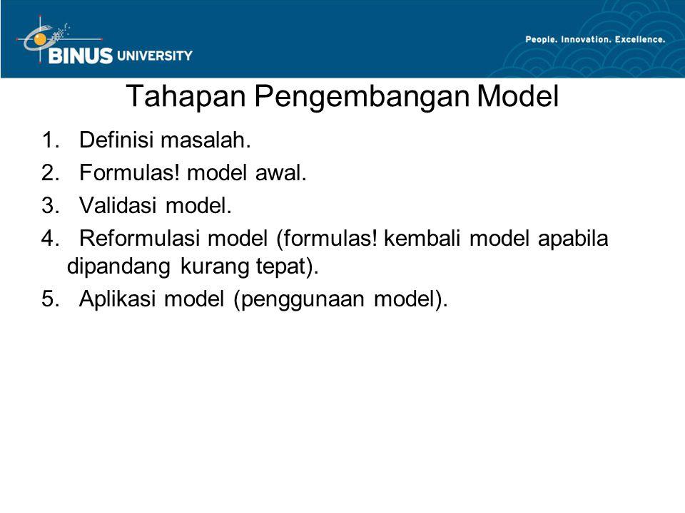 Tahapan Pengembangan Model