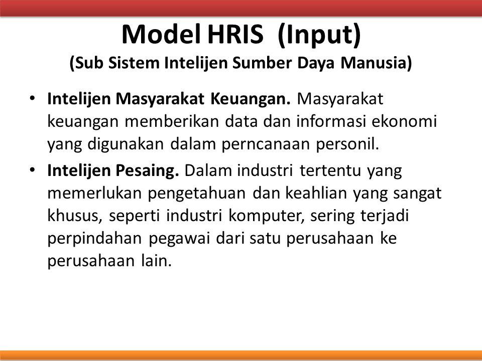 Model HRIS (Input) (Sub Sistem Intelijen Sumber Daya Manusia)