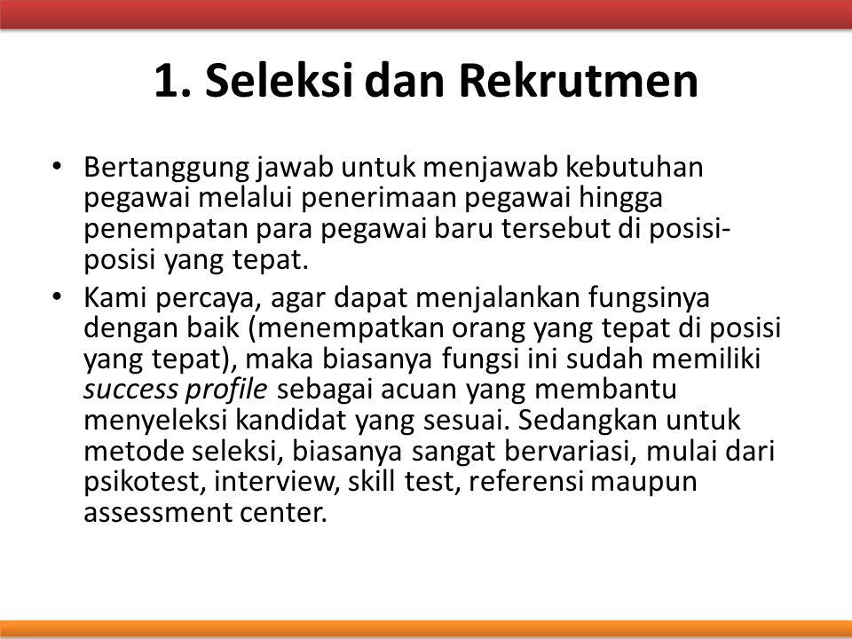 1. Seleksi dan Rekrutmen