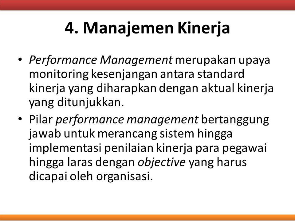 4. Manajemen Kinerja