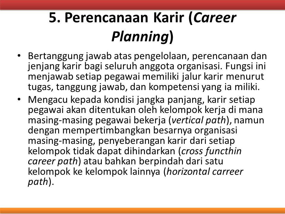 5. Perencanaan Karir (Career Planning)