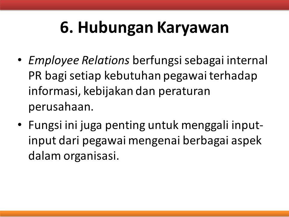 6. Hubungan Karyawan