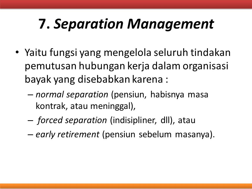 7. Separation Management