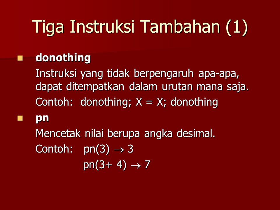 Tiga Instruksi Tambahan (1)