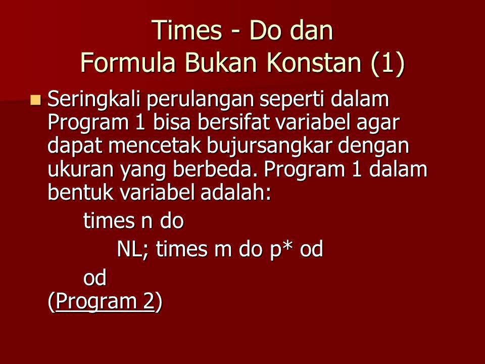 Times - Do dan Formula Bukan Konstan (1)