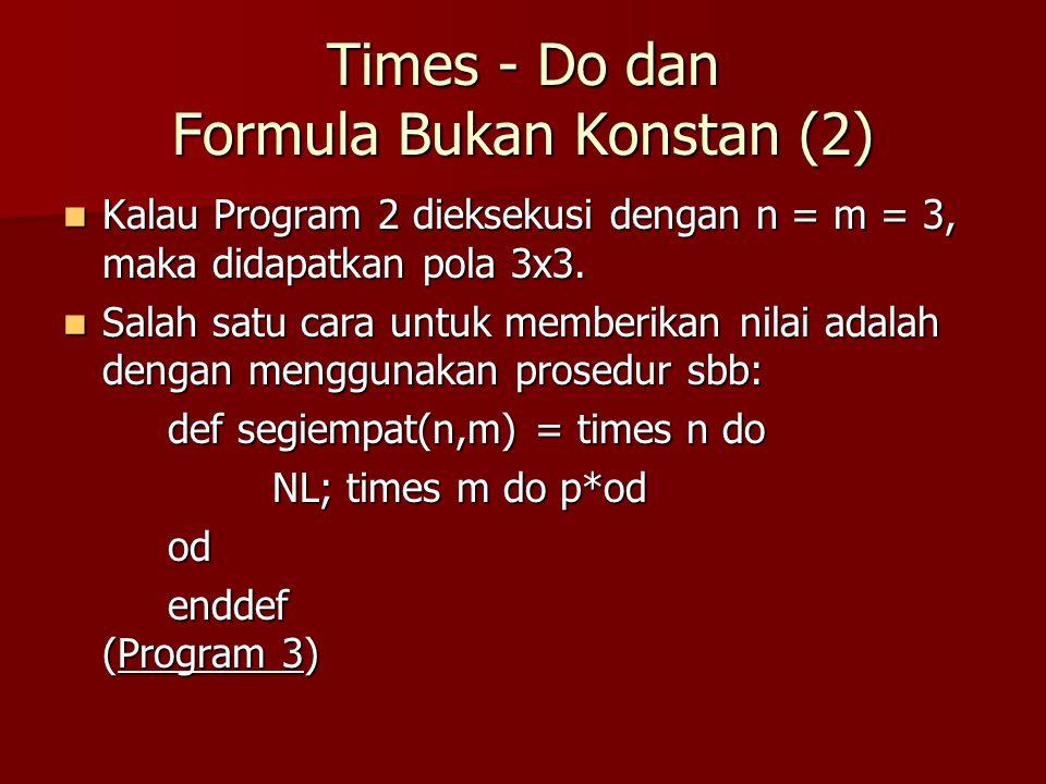 Times - Do dan Formula Bukan Konstan (2)