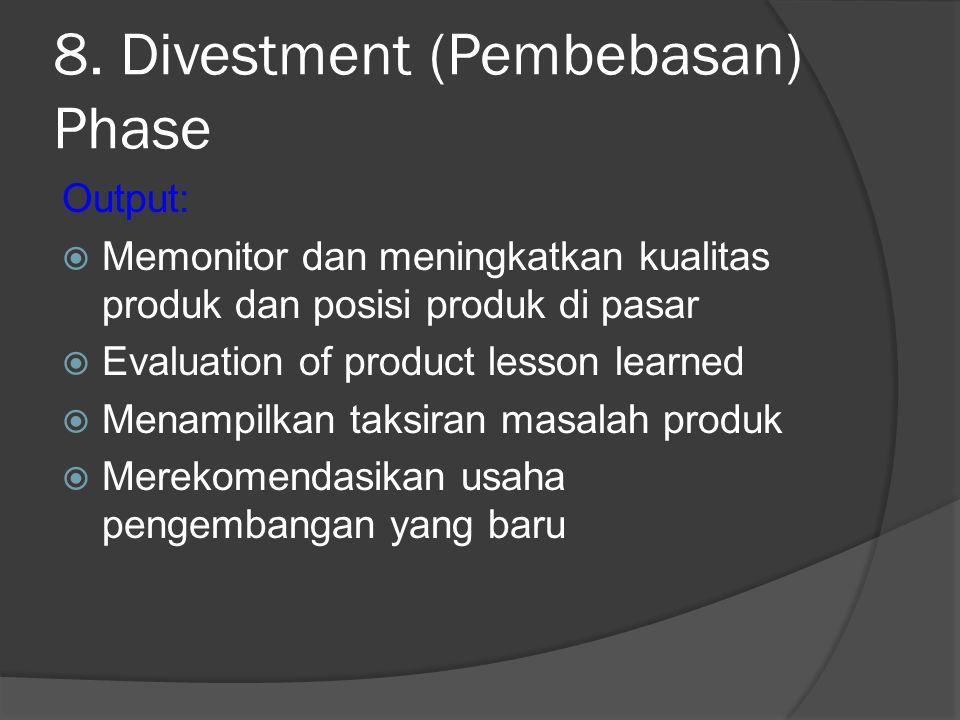 8. Divestment (Pembebasan) Phase