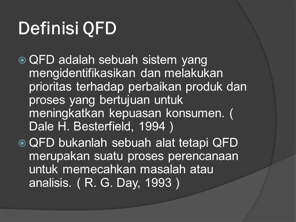 Definisi QFD