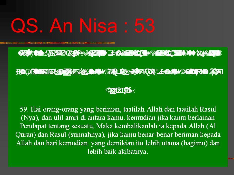 QS. An Nisa : 53
