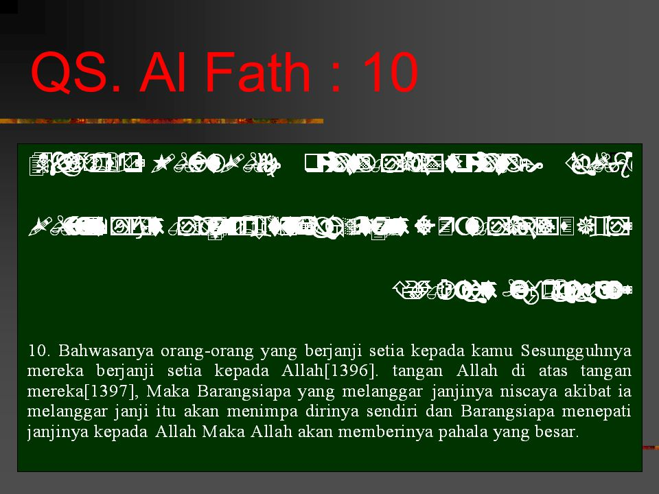 QS. Al Fath : 10