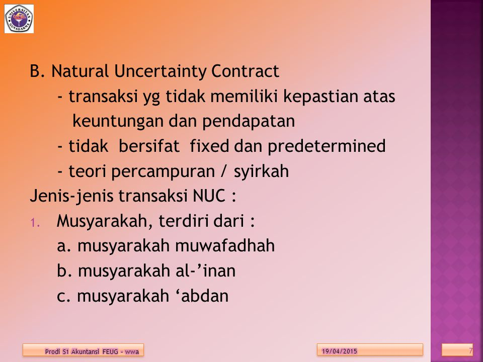 B. Natural Uncertainty Contract