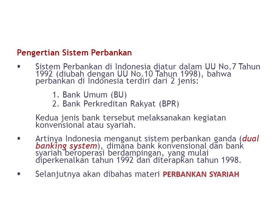 Pengertian Sistem Perbankan