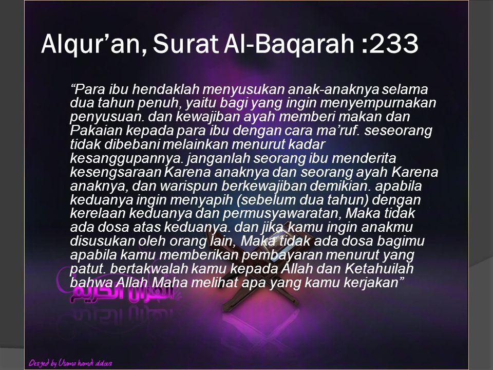 Alqur'an, Surat Al-Baqarah :233