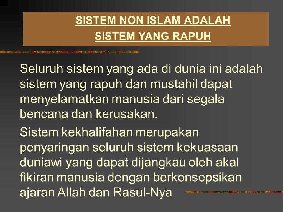 SISTEM NON ISLAM ADALAH