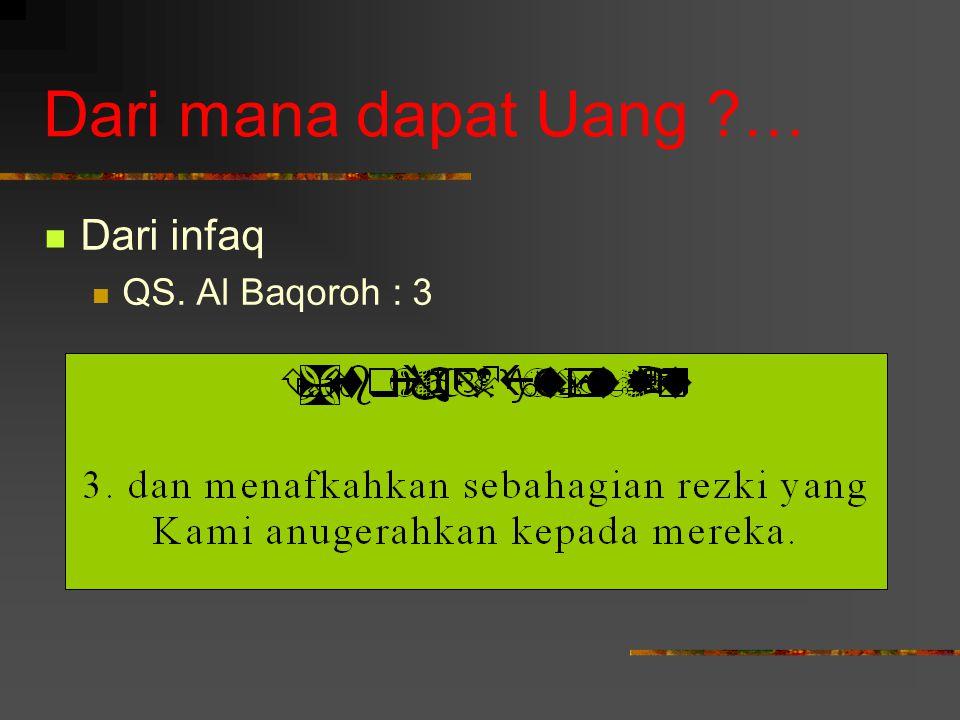 Dari mana dapat Uang … Dari infaq QS. Al Baqoroh : 3