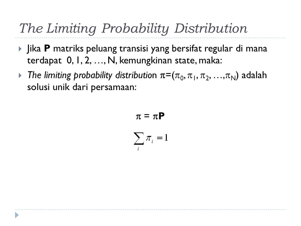 The Limiting Probability Distribution