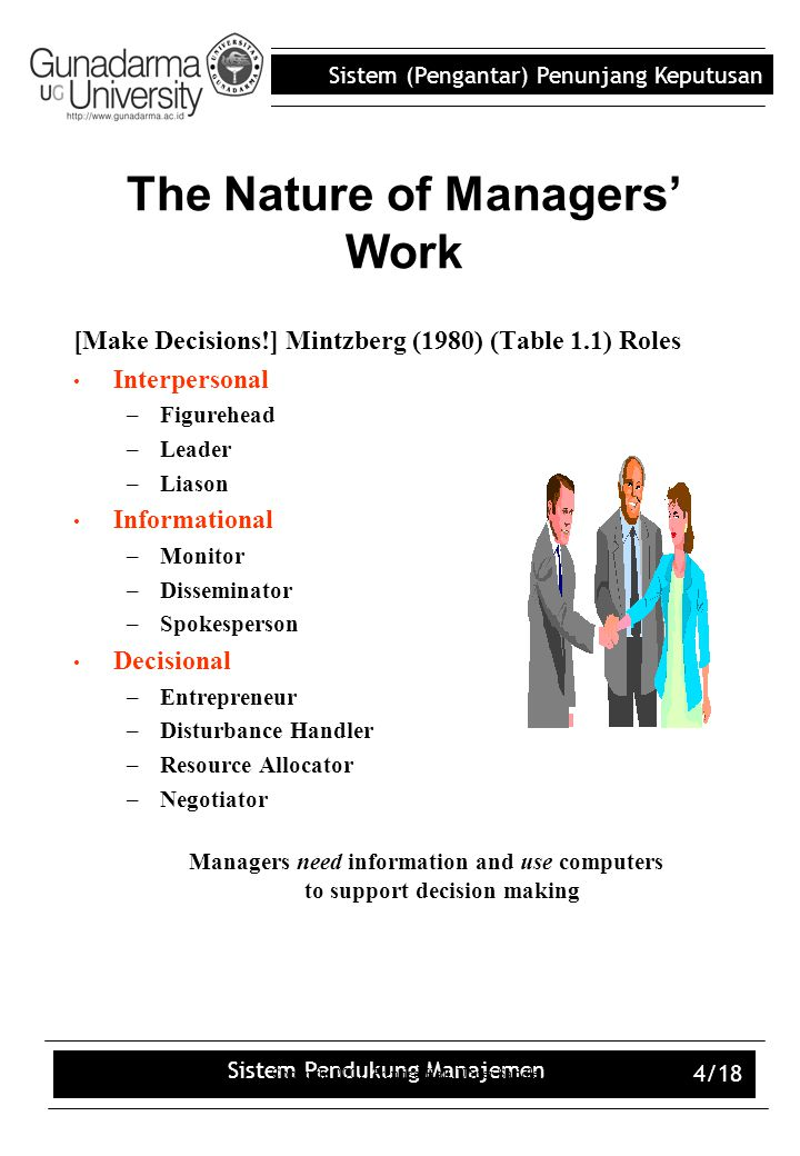 The Nature of Managers' Work