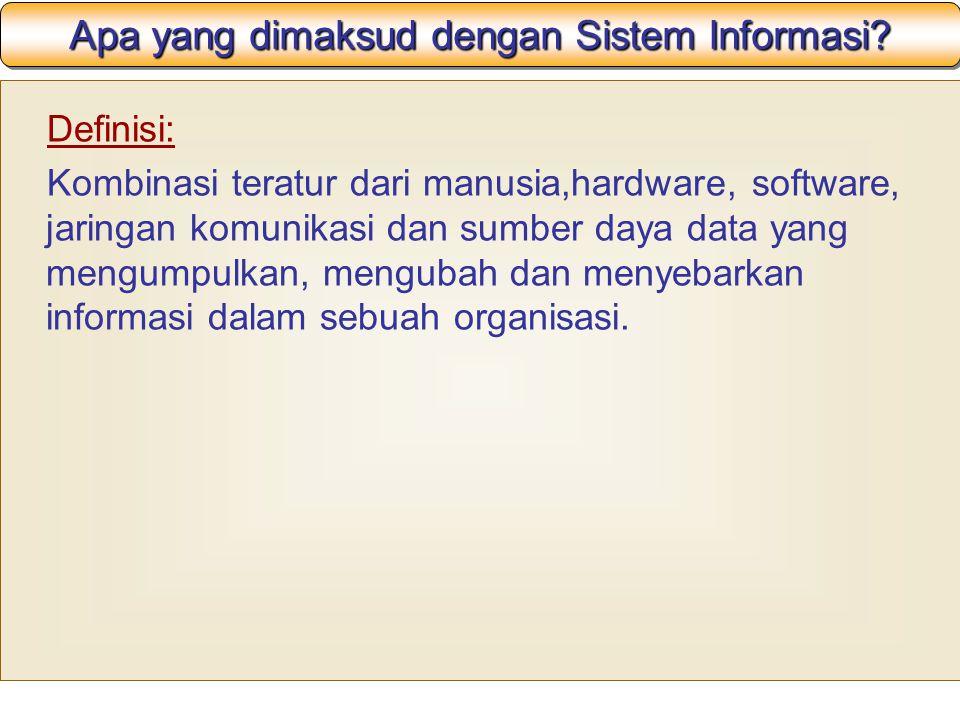 Apa yang dimaksud dengan Sistem Informasi