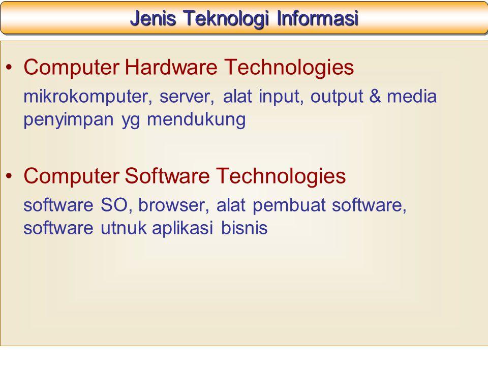 Jenis Teknologi Informasi