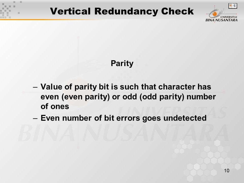 Vertical Redundancy Check