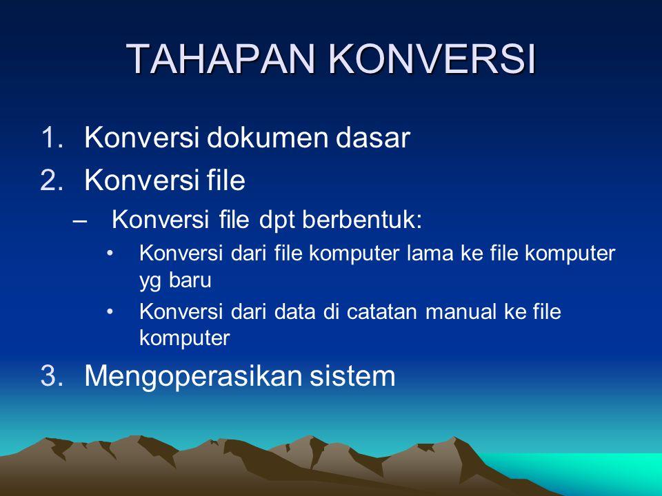 TAHAPAN KONVERSI Konversi dokumen dasar Konversi file
